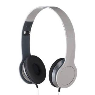 Fone de ouvido estéreo articulável, protetor em couro sintético com espuma e material plástico