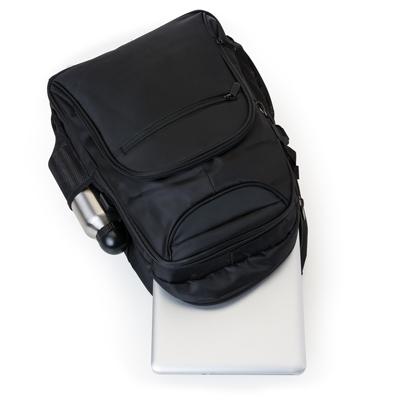 Mochila poliester para notebook com detalhes em nylon