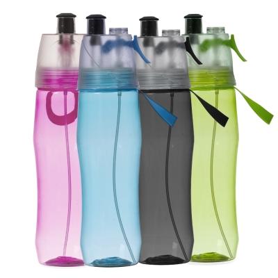 Squeeze plástico 700ml brilhante com borrifador.