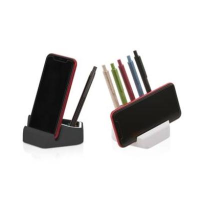 Suporte para celular com porta canetas e clips